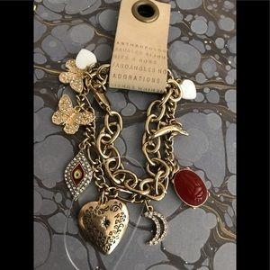 Anthropologie Two-Bracelet Charm Bracelet NWT